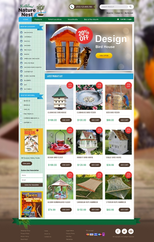 Bird House selling  website